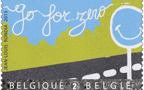 11 februari: verkeersveiligheid 'Go for Zero', verkeersbord