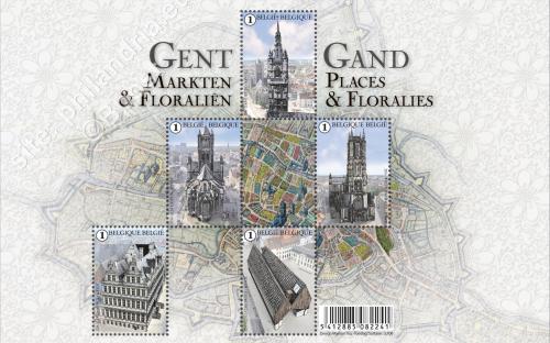 14 maart: Gent - Markten & Floraliën (compleet vel)