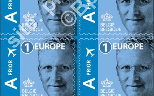 14 maart: '1 Europe' zelfklevende versie - Koning Filip (compleet boekje)