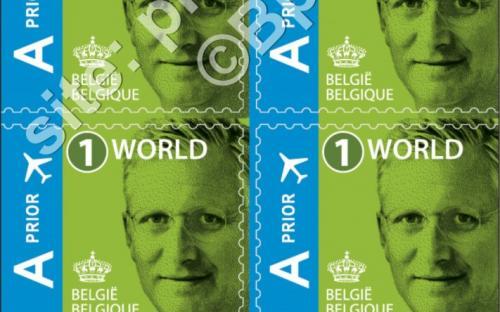 14 maart: '1 World' zelfklevende versie - Koning Filip (compleet boekje)