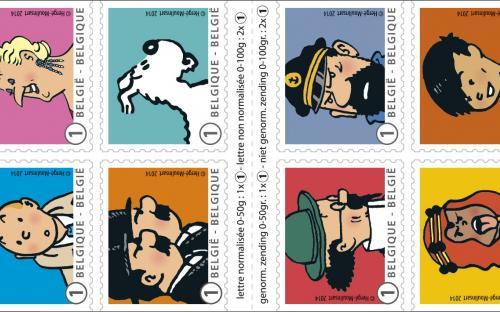 22 april: Kuifje en zijn vrienden - Het postzegelboekje