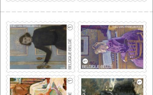 15 april: Théo Van Rysselberghe, postzegelboekje