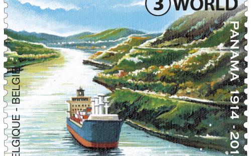 7 juli: Het Panamakanaal 100 jaar (rechtse zegel)