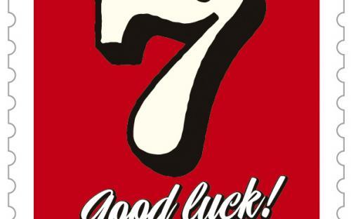 13 september: gelukszegels, lucky seven