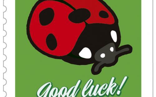 13 september: gelukszegels, lieveheersbeestje