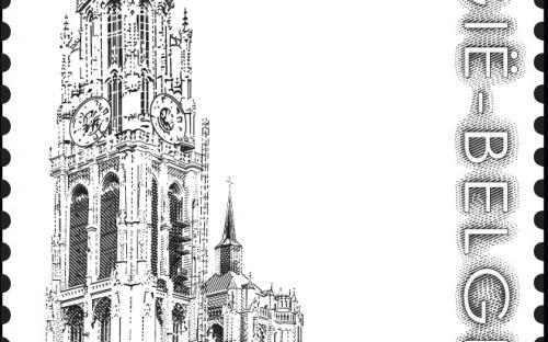 8 september: De Antwerpse Grote Markt (zegel 2)