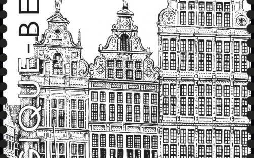 8 september: De Antwerpse Grote Markt (zegel 4)