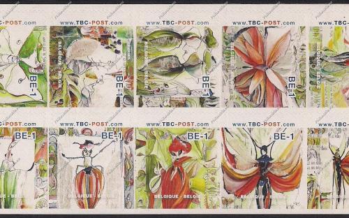 BE-1 (€0.67) - Insecten (volledig blaadje, combinatie 1)