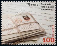 Zwitserland: 175e verjaardag van de postzegel